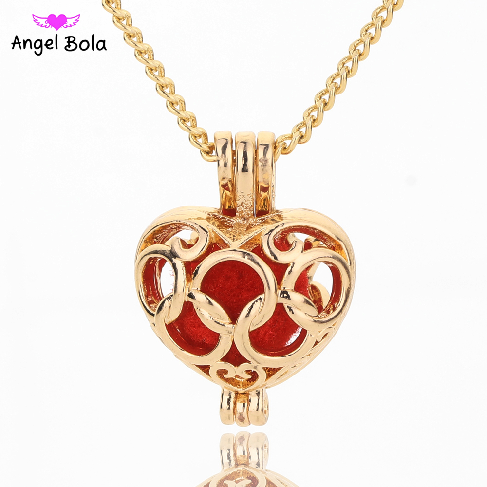 Angel Bola Aquarius Perfume Necklace Pendant For Women Sweater Chain Aromatherapy Oil Pendant Cage Jewelry L142(China)