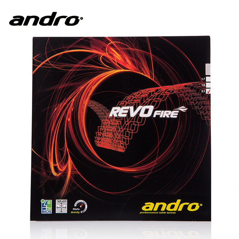 1x Andro Revo Fire  Pips-In Table Tennis (PingPong) Rubber With Sponge<br>