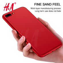 H&A Silicone Matte Ultra-thin Tpu Soft Case For iPhone 7 7Plus 7 Plus Protective Cover Matte Hand feeling White Black Red