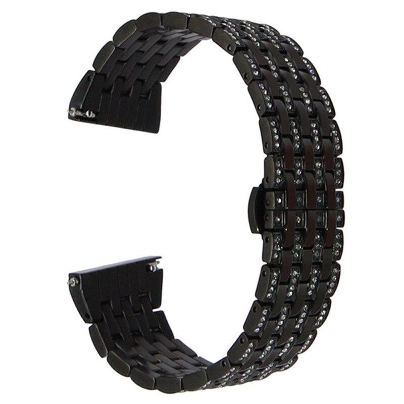 2018 Watchband Stainless Steel For Huawei Watch 2 Watch Luxury Top Brand Bracelet Watch Strap With Rhinestones Correa Reloj<br>