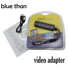 blue than New Portable USB 2.0 Easycap Audio Video Capture Card Adapter VHS to DVD Video Capture For Win7/8/XP/Vista
