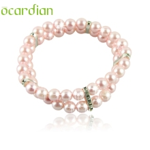 Ocardian Dog Cat Puppy Collar Jewelry Pearls Rhinestones Pink Charm Pet Products