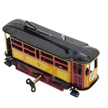 Retro Wind Up Tram Cable Bus Clockwork Streetcar Toy Vintage Collection Kid Gift