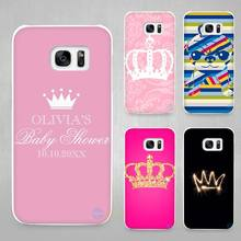 PRINCESS Queen boss crown king Hard White Coque Shell Case Cover Phone Cases for Samsung Galaxy S4 S5 S6 S7 Edge Plus(China)