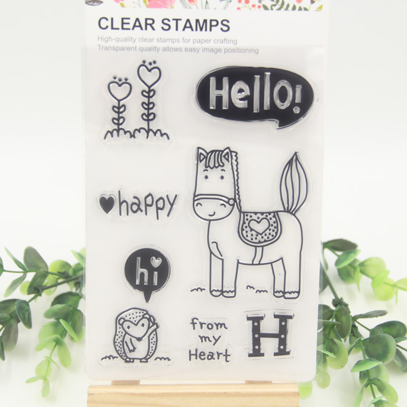1 sheet DIY Horse Design Transparent Clear Rubber Stamp Seal Paper Craft Scrapbooking Decoration<br><br>Aliexpress