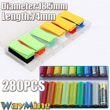 280pcs Replacing Sleeving For Li-ion Battery 18650 18500 Heat Shrink Tubing Shrinkable Sleeves Insulated Outer Packing Wrap