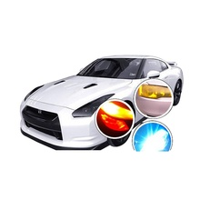 3 Layer 100CM*30CM Car Light Sticker Film Glaze Fog Light HeadLight Taillight Tint Vinyl Films Sheet Car Decoration(China)
