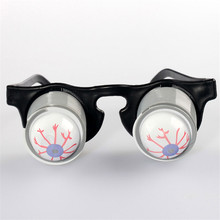 Funny Gags & Practical Jokes Toys Pop Out Eye Dropping Eyeball Glasses Scary Prank Toys Halloween Party Decoration toys for kids