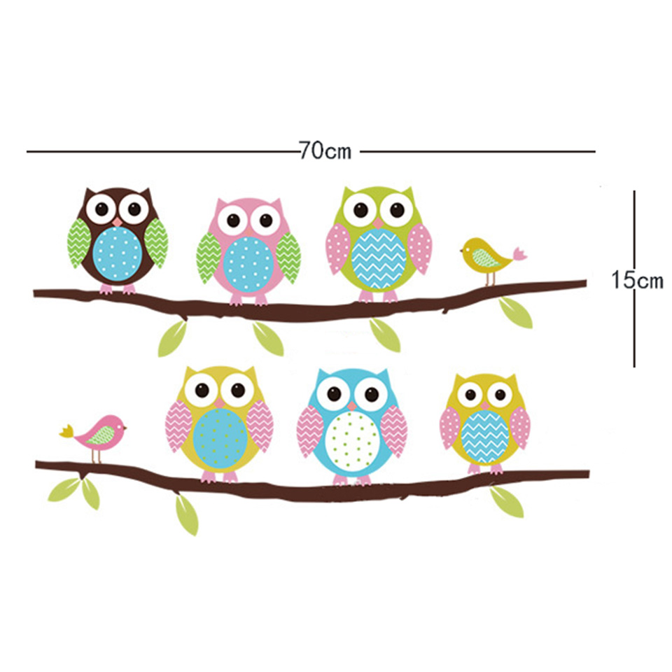 Owl Wall Stickers For Kids Rooms A16 (6)
