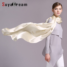 100% Real silk Women Large SCARVES 200CMx70CM Long Heavy SATIN Silk kerchief Shawl Stewardess style WRAPS NEW Fall