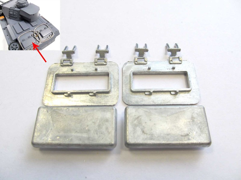 Mato Metal radiator fan inspection hatches for 1/16 1:16 RC Panzer III ,Stug III  tank<br><br>Aliexpress