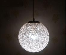 The bird's nest round hemp ball lamp simple creative rattan bamboo decorated restaurant garden bar hanging pendant light ZH