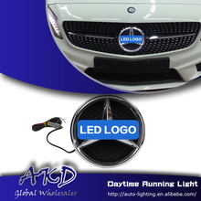 Car Styling LED Emblem for Mercedes Benz W204 GLK300 GLK350 LED Star Light DRL FRONT GRILLE LED LOGO Daytime Running light