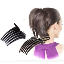 2PCS Volume Inserts Hair Clip Bouffant Hair Comb Hot Sale Hair Clip Ponytail holder Summer Ornament Black