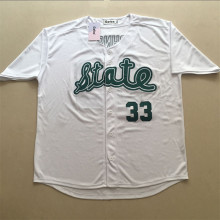 Gefex Cheap Magic Earvin Johnson #33 State Men's baseball Jersey College Stitched white Throwback jerseys free shipping