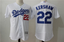MLB Men's Los Angeles Dodgers 22 # KERSHAW Elite Edition Player Jersey, Baseball Jersey MLB Jersey Free Shipping(China)
