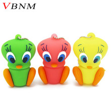 VBNM 3 colors Duck USB Flash Drive cartoon Pen drive  Animal pendrive 4GB/8GB/16GB promotion 100% real capacity