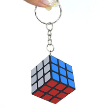 Treeby 3x3x3 Mini Keychain Magic Cube Accessories Cube Puzzle Stickers Toys For Children Education Gifts