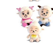 Plush toy pleasant goat , beauty goat and lazy goat about 25cm three pieces as pictures doll gift pillow doll t6654(China)