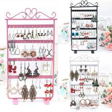 Fashion Earrings Display 48 Hole Rack Stand Holder Jewerly Metal Base 3 colors M8694
