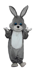 gray rabbit bunny mascot costumes  Chirstmas party birthday gift Halloween Fancy Dress Adult Size custom made