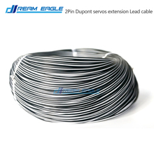 10M 26AWG 2P Dupont cable servo extension wire lead cord cable white and black for RC lipo car helicopter drone