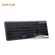 Zienstar AZERTY FRENCH letter 2.4G Wireless keyboard mouse combo with USB Receiver for Desktop,Computer PC,Laptop and Smart TV(China)
