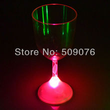 Free shipping 5pcs/lot 235ML/8OZ Colorful LED Goblet Wine Cup Mug Light Glow Flashing Cocktail Whiskey Drink Bottle