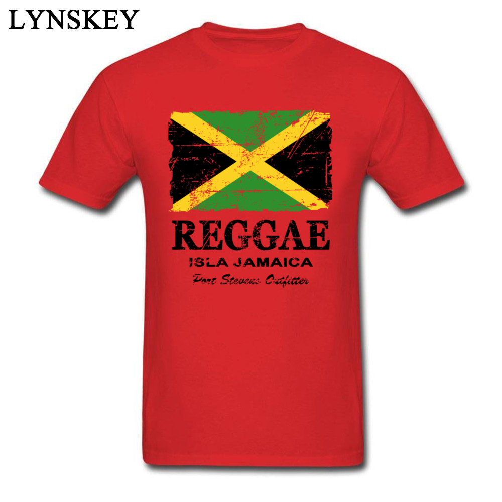 T-Shirt Normal Short Sleeve Funny Crew Neck 100% Cotton Tops T Shirt Group Summer Fall Reggae Jamaica Flag Tee Shirt for Boys Reggae Jamaica Flag red
