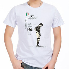 Men's Short sleeve t-shirt Roberto Baggio Juventus Fiorentina melancholy prince Serie A Italy 100% cotton tshirt jersey fan(China)