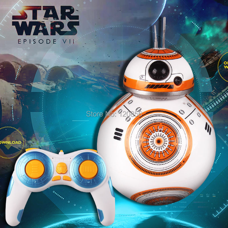 Upgrade Star Wars RC BB-8 Robot Star Wars 2.4G remote control BB8 robot Action Figure Robot Intelligent Ball Toys For Children<br>