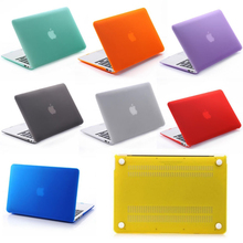 Luxury Frosted hard PC Cover translucent Case For Apple Macbook Air 11 12 13 Pro 13 15 inch Retina protective Plastic bags