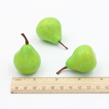 15PCS Artificial Simulation Pears Garden desk Kitchen Wedding flower Furnishing articles decoration fruit