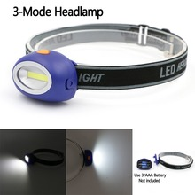 Mini COB LED Headlamp 3 Modes Energy Saving Outdoor Sports Head light Camping Fishing Head Lamp Flashlight Color Blue(China)