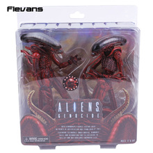 NECA Aliens Genocide Xenomorph Big Chap & Dog Alien Concept PVC Action Figure Collectible Model Toy 2-pack(China)