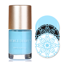 NICOLE DIARY 9ml Nail Art Stamping Polish Sky Blue Nail Art Varnish Polish for Beauty Nail Art Printing NS07(China)