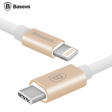 Baseus 1M Type-C To 8pin USB Cable For Lightning Sync Data Charge For Macbook iPhone 5 5C 5S 6 6S Plus iPad iPod IOS 7 8 9