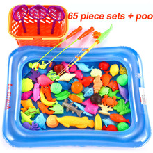 Hot sale Children's fishing toy pool set Magnetic fishing paddle baby puzzle The best gift for your child(China)