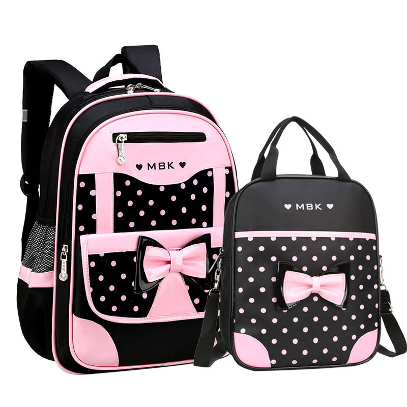 Ladies Pink  Polka dot Vintage cross body Briefcase Large Satchel School Bag