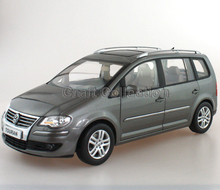 * Grey 1:18 Volkswagen VW Touran 2008 MPV Diecast Model Van Classical MPV Collection Off Road Commercial Vehicle