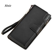 High Quality Leather Wallets Fashion Men Bifold Zipper Wallet Card Holers Purse Handbag Brand Designer Business Wallet For Man(China)