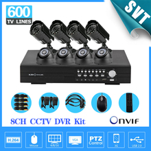 8 Channel  with 600TVL Outdoor IR waterproof video Camera System 8CH CCTV surveillance System H.264 network DVR NVR KIT SNV-26