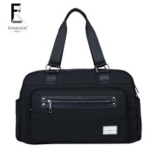 Fenruien Large Casual Nylon Travel Duffles Bags Men Fashion Handbag 2 Color Optional Shoulder Bag Trip Zip Luggage Bags F155