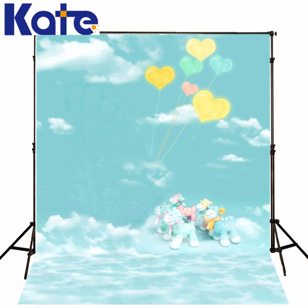 300Cm*200Cm(About 10Ft*6.5Ft) Mini Baby Child Photographyballoon Sky Clouds Pony Background  Baby Photos 1296 Lk<br>