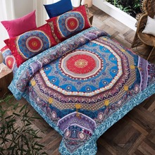 Ethnic Style Bedding Set Mandala Pattern Quilt Cover Set style of nationalism Bed Sheet Pillowcases 4pcs New Year Gift