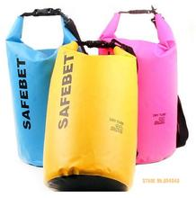 SAFEBET New Portable Pvc Waterproof  Travel Dry Bags Rafting Bag Waterproof  Double-shoulder Bag 5L 10L 20L
