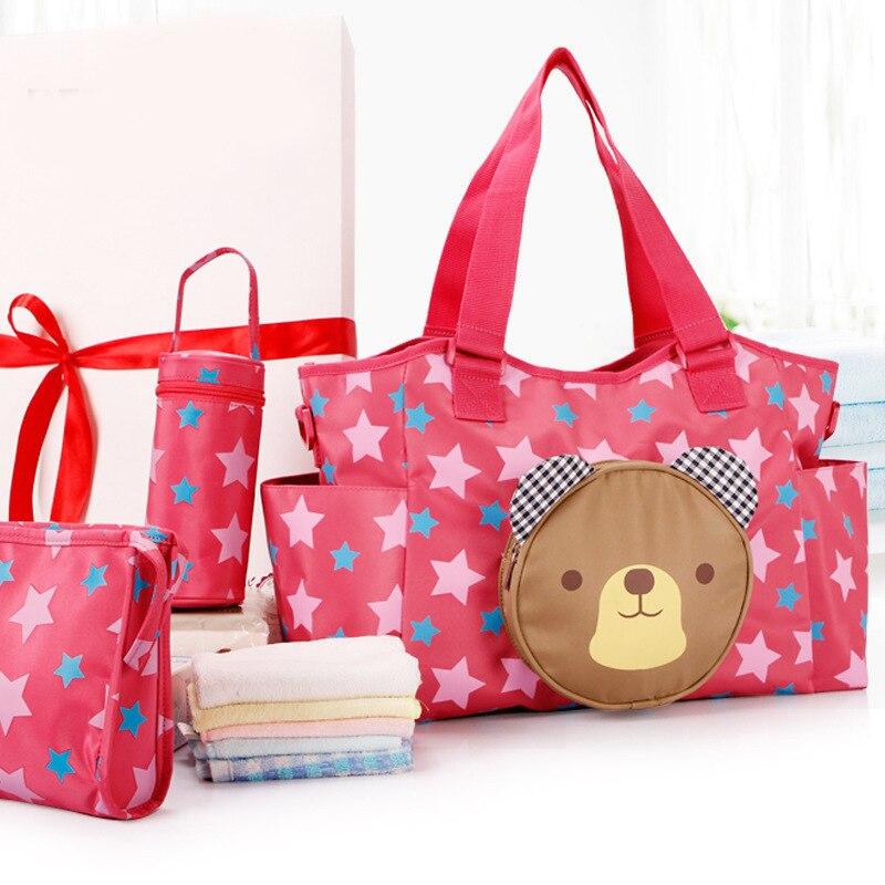 Multifunctional Mummy Bag Maternity Handbag Baby Diaper Bags baby Tote Organizer 2 Colors bolsas de bebe maternidade+bottle bag<br>