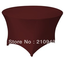 Free Shipping 30pcs 4 ft. Round Stretch Table cover spandex table covers round table cloth