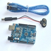 ! UNO R3 MEGA328P  for Arduino Compatible with USB cable and 9V battery clip snap power cable
