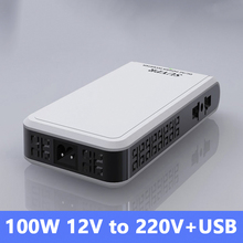 Ultrathin Car Inverter 12v To 220v 100W/200W Auto Voltage Converter Laptop Charger Power Adapter,dc-dc inverter with USB(China)